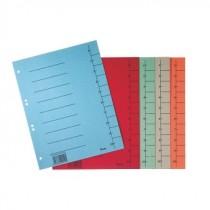 Kartontrennblätter A4 in Standardfarben