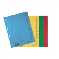 Kartontrennblätter A4 in Intensivfarben