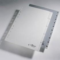 Alphabetische Register aus Polypropylen
