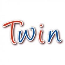 Bürostifte Twin blau-rot